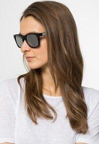 Vans - SPICOLI - Sunglasses - matte black/silver mirror - 1