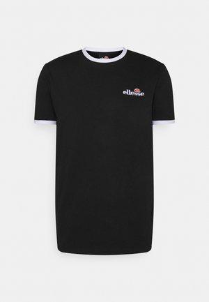 MEDUNO TEE - Print T-shirt - black