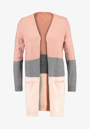 ONLQUEEN LONG CARDIGAN - Neuletakki - misty rose/mottled grey melange/cloud pink melange