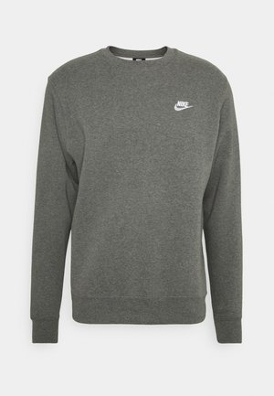 CLUB - Sweatshirt - charcoal heather/white