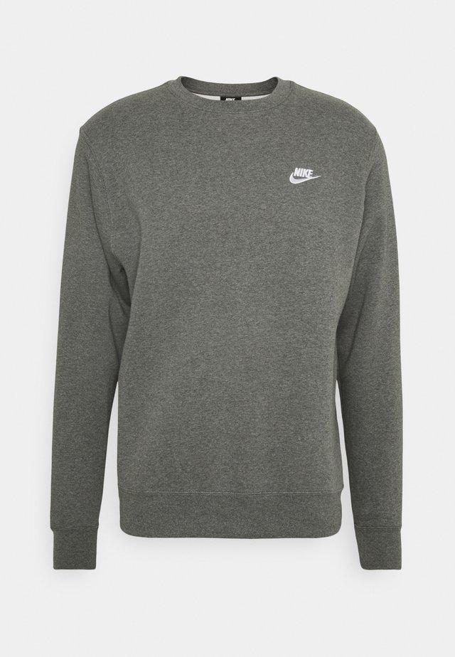 Sweatshirt - charcoal heather/white