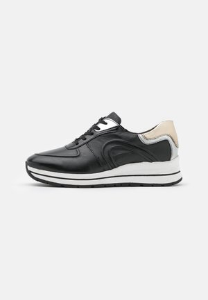 LACE UP - Sneakers laag - black/plain