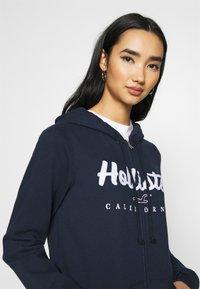 Hollister Co. - TECH CORE  - Zip-up hoodie - navy - 3