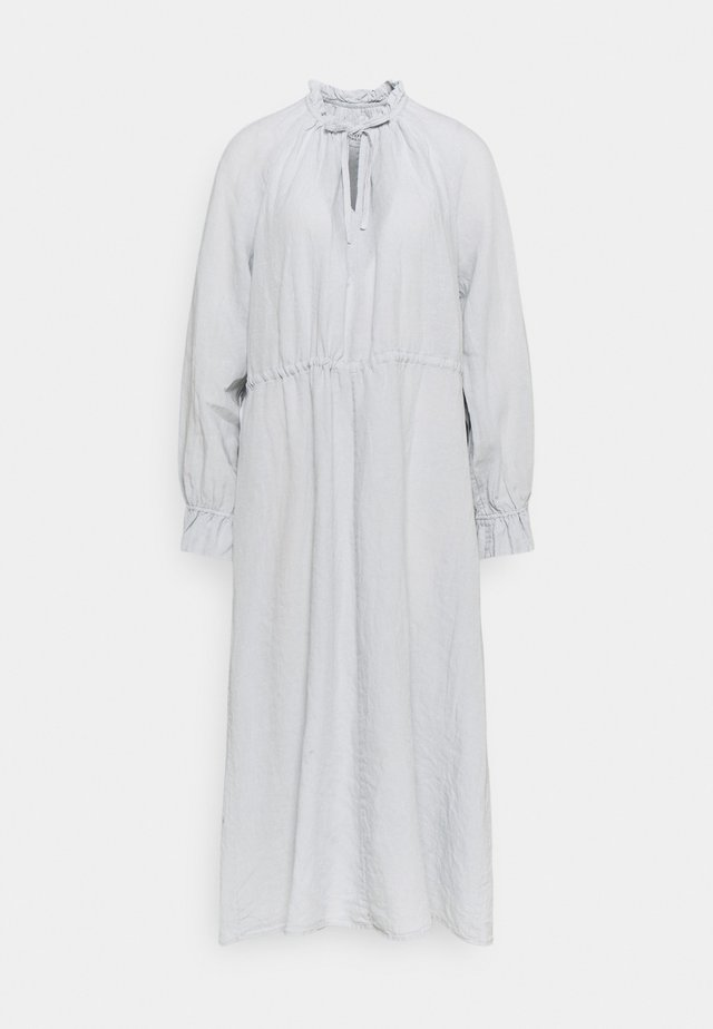 DRESS BOHEMIAN SUMMER STYLE WIDE SLEEVE RUFFLED COLLAR - Sukienka letnia - spring water