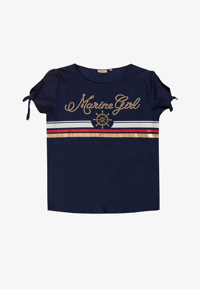T-shirt print - azul marino