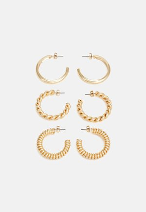 PCFLORINNA EARRINGS 3 PACK - Øreringe - gold-coloured
