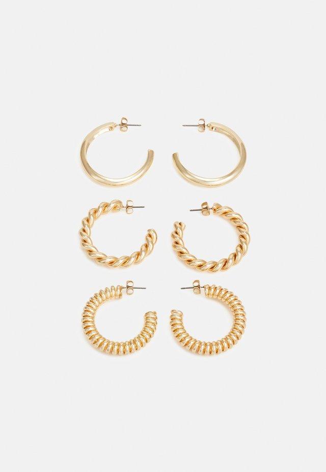 PCFLORINNA EARRINGS 3 PACK - Orecchini - gold-coloured
