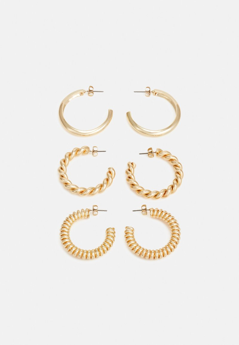 Pieces - PCFLORINNA EARRINGS 3 PACK - Náušnice - gold-coloured