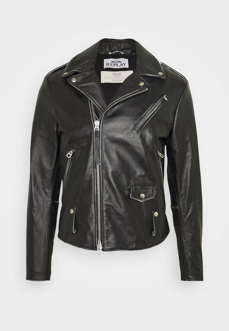 Replay - Leather jacket - black