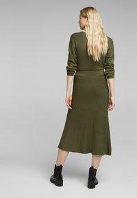 Esprit Collection - A-line skirt - khaki green - 2