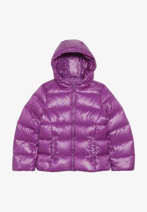JACKET - Bunda zprachového peří - purple