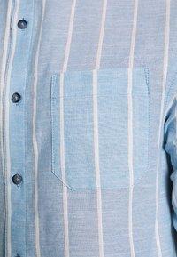Brooklyn Supply Co. - GRANDAD COLLARED STRIPE SHIRT - Košile - blue - 5