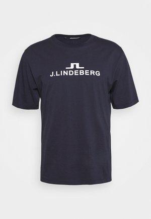 ALPHA  - Print T-shirt - navy