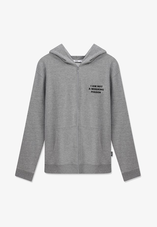 MORNING PERSON - Zip-up sweatshirt - light grey