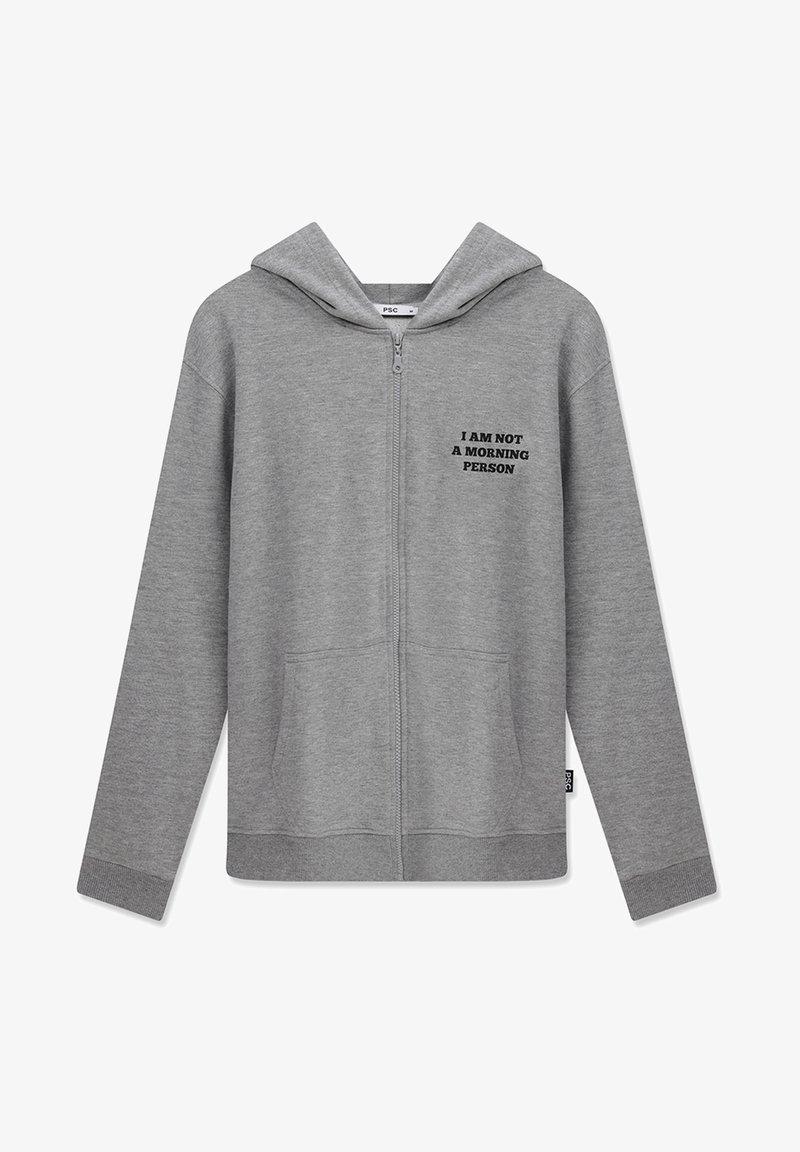 PSC - MORNING PERSON - Tröja med dragkedja - light grey