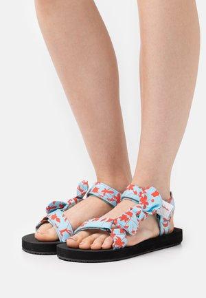 MONIKA - Sandals - turquoise/red