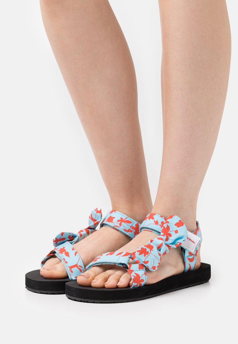 Marc O'Polo - MONIKA - Sandals - turquoise/red