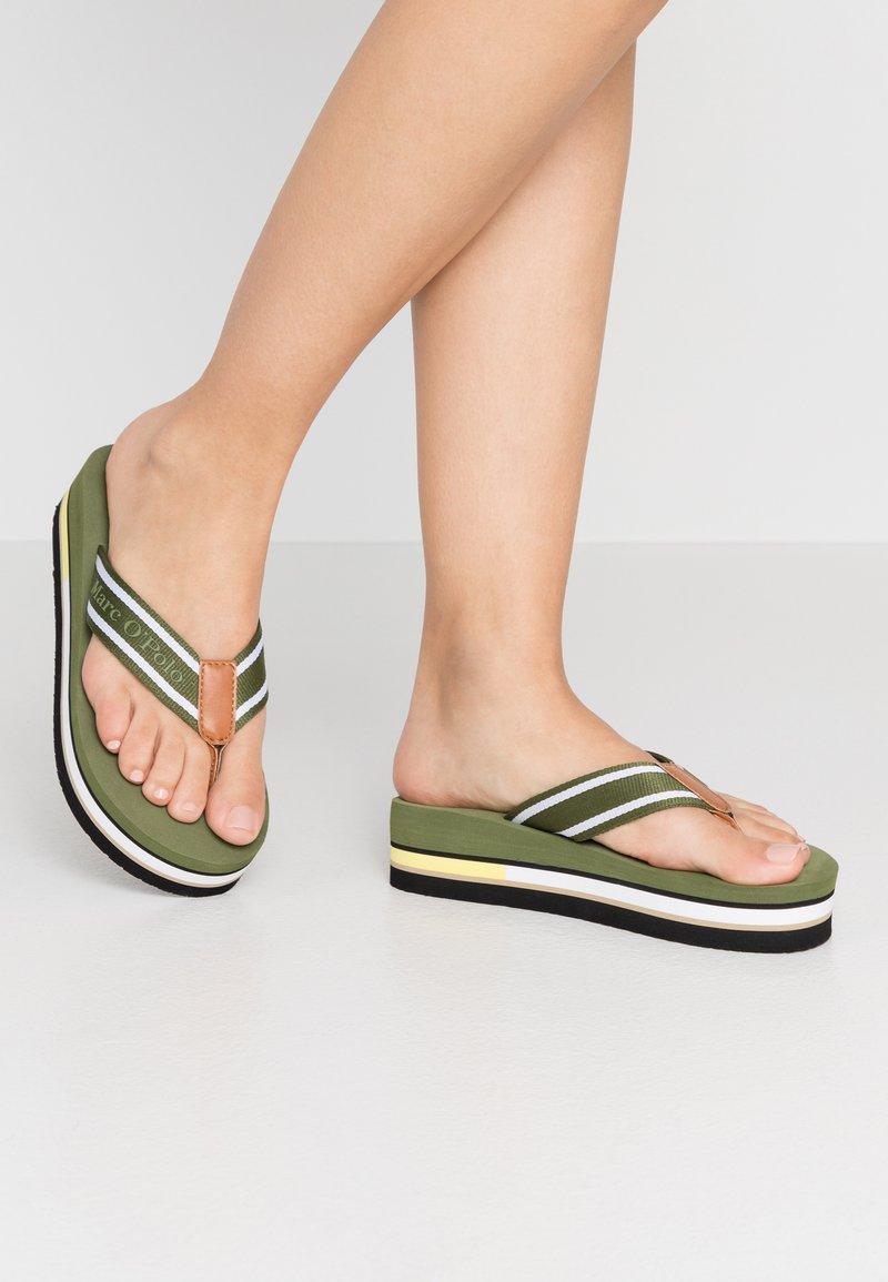 Marc O'Polo - DORA  - Sandály s odděleným palcem - khaki
