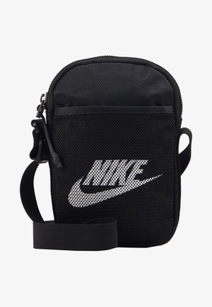 NIKE HERITAGE UNISEX - Across body bag - black/black/white