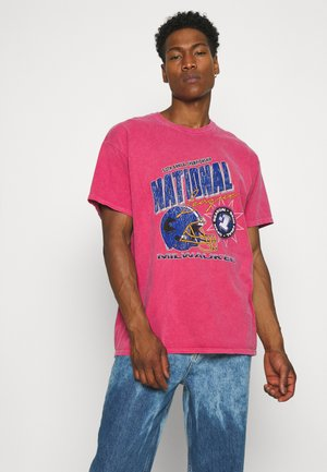 NATIONAL GRAPHIC TEE UNISEX - T-shirts med print - red