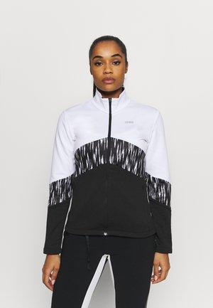 LADIES - Fleecová bunda - black/white