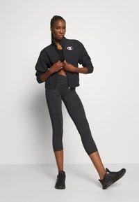 Champion - LEGGINGS LEGACY - 3/4 sportovní kalhoty - black - 1