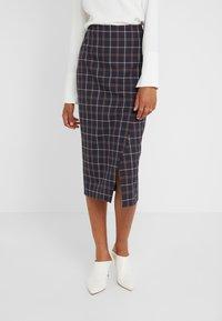 Strenesse - SAROTA - Pencil skirt - dark blue - 0