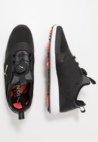 Puma Golf - IGNITE PWRADAPT CAGED DISC - Obuwie do golfa - black/silver - 1