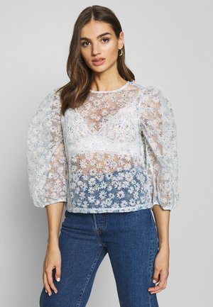 FANNY BLOUSE ORGANZA - Blůza - light blue