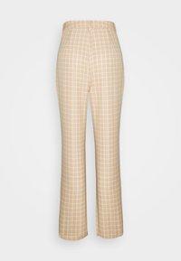 Fashion Union - JAUNE TROUSER - Trousers - beige,white - 1