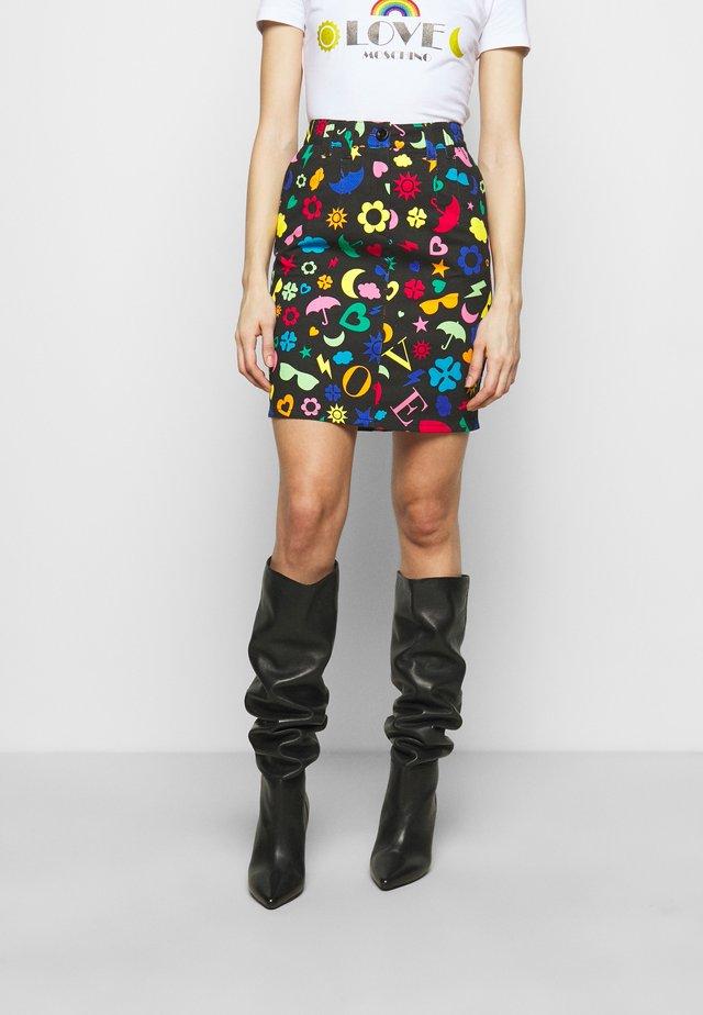Áčková sukně - multicolor