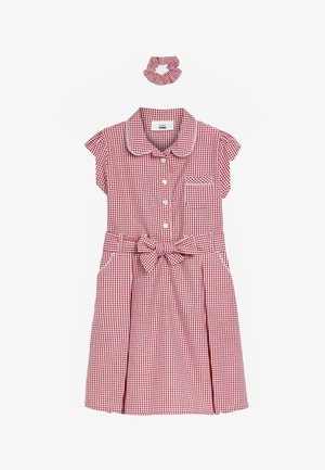 GINGHAM BOW - Shirt dress - red