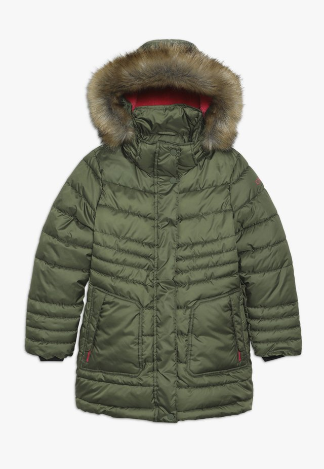 GIRL SNAPS HOOD - Zimní kabát - loden