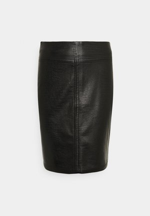 NMLISSY SHORT SKIRT TALL - Jupe crayon - black