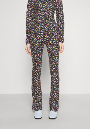 MINI FLOWER FLAREPANTS - Kalhoty - multicolor