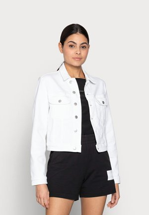 CROPPED  DENIM JACKET - Denim jacket - white