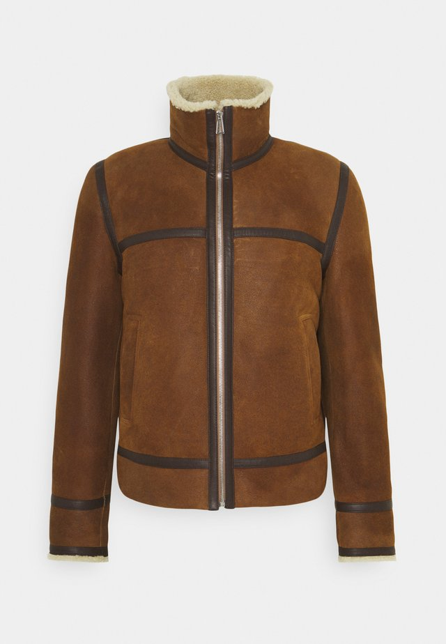 JACKET - Veste en cuir - brown