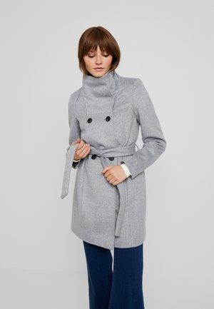 Kort kåpe / frakk - light grey melange
