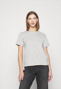 Even&Odd - 2 PACK - Basic T-shirt - white/grey - 1