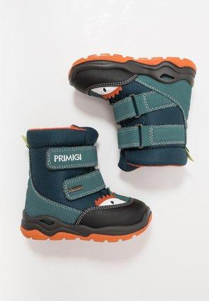 Baby shoes - petrol/nero