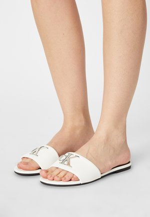 FLAT SLIDE  - Mules - bright white
