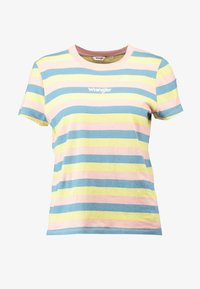 Wrangler - REGULAR TEE - Print T-shirt - peaches pink - 4