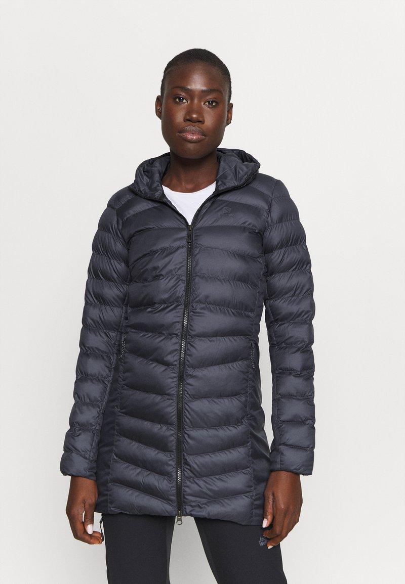 Salomon - SIGHT STORM HOODIE  - Winter coat - ebony