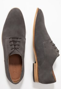 Zign - LEATHER  - Smart lace-ups - dark gray - 1