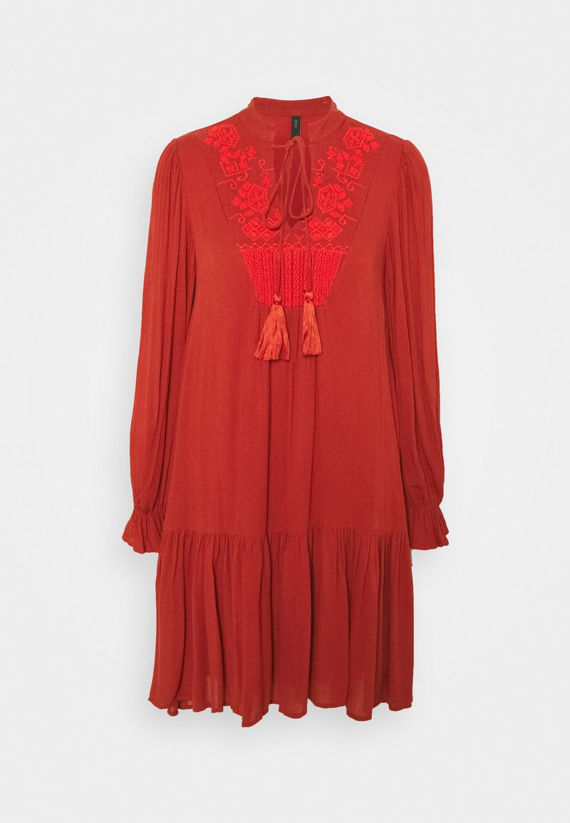 YAS - YASCILLA DRESS BOHO - Day dress - red ochre