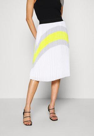 COLOURBLOCK PLEATED SKIRT - A-line skirt - off white