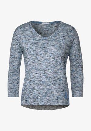 MIT MELANGE-OPTIK - T-shirt à manches longues - blau