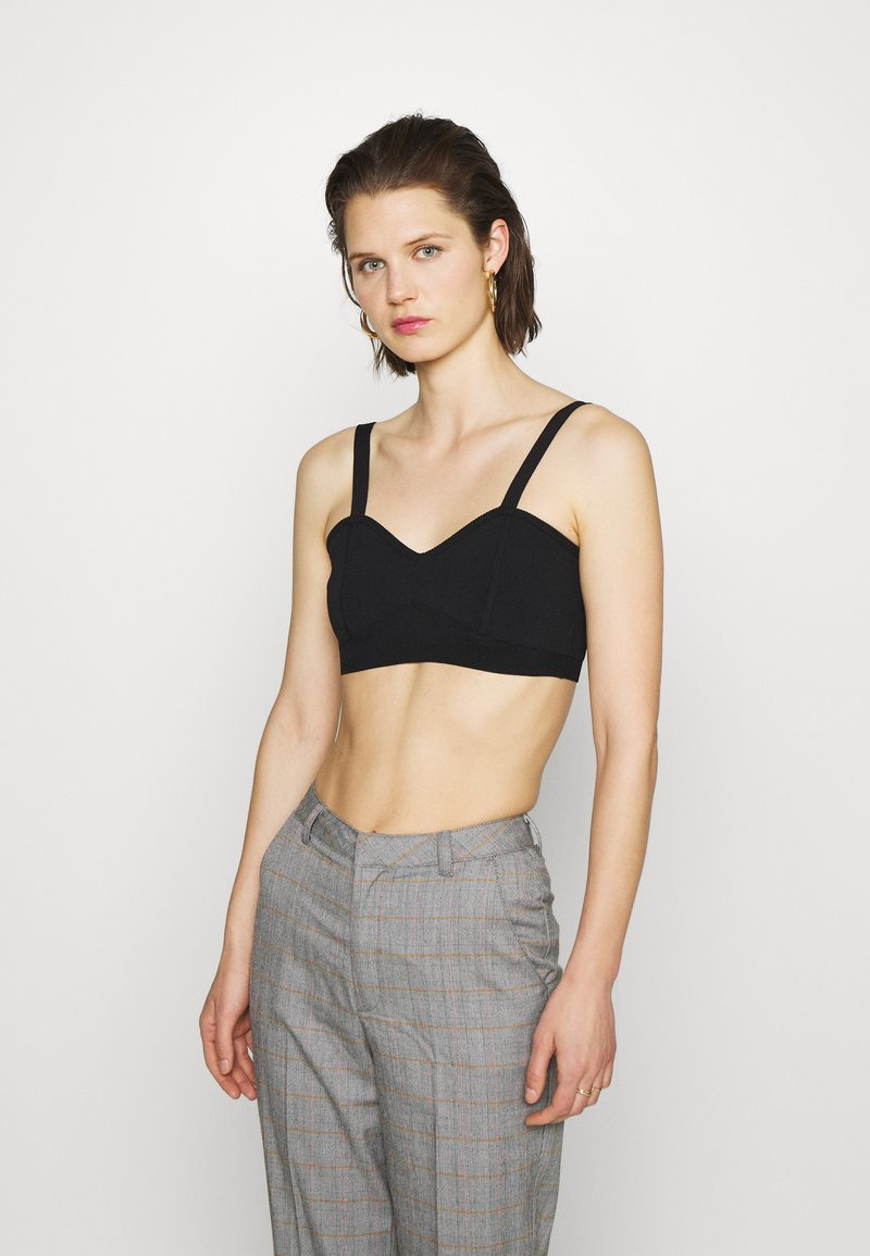 Who What Wear - THE BRALETTE - Top - black