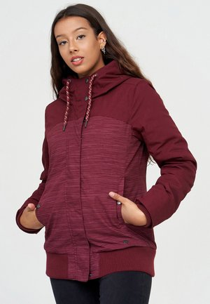 Light jacket - bordeaux / stripes
