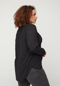 Zizzi - Button-down blouse - black - 2